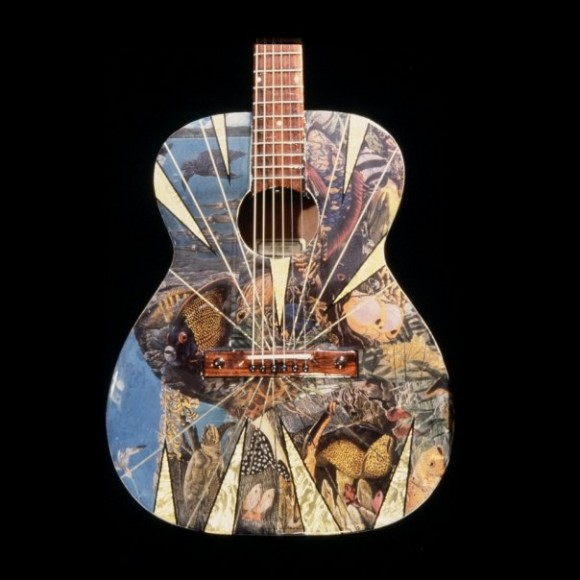 acoustic guitar metallic art graphics
