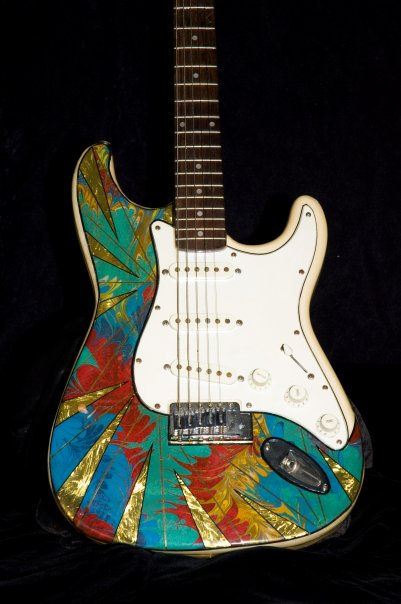 Electric Metallic Art Graphic Guitar