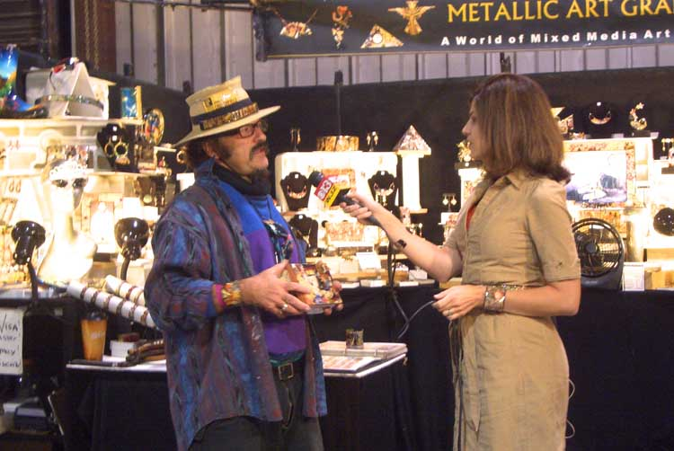 Metallic art graphics john crutchfield featured on cbs for Sugarloaf craft festival timonium